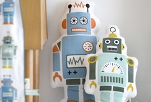 Gifts for the Robot Obsessed / I love robots, especially retro-style bots or ones made from recycled household items or old junk. This is a collection of robots I love and would love to own. Robot love...