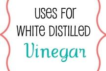Vinegar oh Vinegar (It's the new black - of everything.) / Tons of uses for Vinegar.