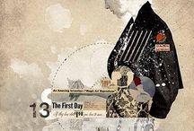 Illustration: collage mixed media / by Pippa Grocott - WGC Art