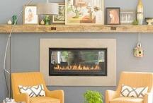 Mantels / #mantel, #fireplace #decor #chimney #chimenea #repisas #firemantel