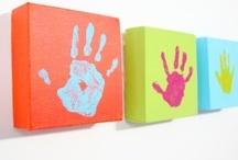 Handprints, Footprints / Children, family, home art. Creating memories and tracking development.