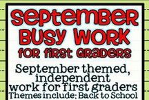 "September in the Classroom / Ideas for September and ""back to school"""