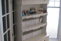 A Shabby Chic Craft room for me? / I am in the very slow process of making an empty nest room into a craft room.