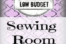 For my new sewing room... / I'm in the middle of a transition... creating a new sewing room. Could you please help me finding useful but Low-Budget ideas for #organizing #fabric and #supplies?!? Check my Low Budget Sewing Room re-do on SergerPepper.com