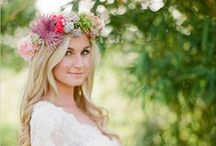 Floral Shoot Inspiration / Floral headpieces for a styled shoot