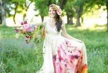 Floral Wedding Dresses / Beautiful floral print wedding dresses.