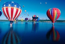 Floating Away in a Hot Air Balloons