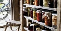 Food Storage & Organization / Old Fashioned Food Storage and Organization ideas.