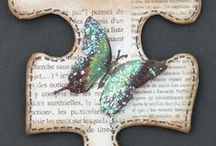 Puzzled / Altered jigsaw pieces / by Kathryn Toothill