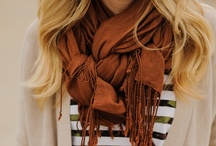 Scarves I love and tying tips! / The older my neck looks, the better these scarves appear! / by Cheri Rowden