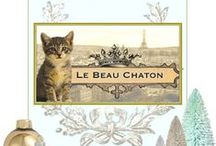 Le Beau Chaton - original art / https://www.etsy.com/shop/lebeauchaton original art, handicrafts and flights of fancy featuring whimsical animals and a french twist.