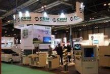 """Diseño Stand """" CRM SYNERGIES """" / Stand para la Empresa CRM SYNERGIES en el Salón Internacional de Soluciones para la Industria Eléctrica y Electrónica MATELEC en el Recinto Ferial de Ifema en Madrid en Octubre 2014."""