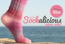 Sockalicious -25% / February is Sockalicious! All February you will receive a 25% discount on our three lovely sock yarns, DROPS Fabel, DROPS BigFabel and DROPS Delight! All three qualities create the most delicious and interesting patterns in the softest wool, which of course can be used for much more than just socks! Read more here: http://bit.ly/news-sockalicious / by DROPS Design
