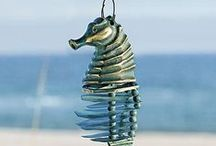 WIND CHIMES / I love the sound of wind chimes...soothing in the gentle breeze...crashing and clashing in a coming storm!  It's the music created by Mother Nature herself.  i adore them in all their moods.  / by BabyBeansOriginals