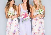 wedding inspiration // bridesmaids / Bridesmaid attire