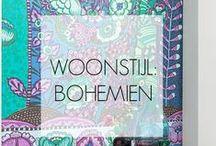 WOONSTIJL: Bohémien / Expressieve, gedurfde woonstijl met eigenzinnige kleuren, vintage vondsten en dierbare details van verre reizen.