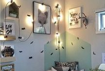 B L A C K + M I N T / Awesome boy's rooms featuring black, white and mint colour schemes - curated by little whimsy