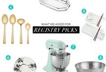 Wedding Registry Picks from Macy's / We partnered up with Macy's to share wedding registry tips, the wedding gifts we asked for, what we wish we had asked for, the latest wedding registry trends and wedding registry must-haves.