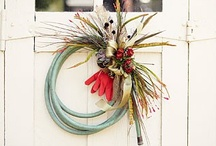 wreath ideas / My favorite wreaths. One day I'd like to diy these myself or with the craft club.