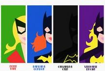 Batgirls / Gotham City Heroines: Kate Kane, Barbara Gordon, Cassandra Cain, and Stephanie Brown, and friends. / by Hannahlily