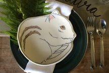 BAM! Member Jill J. Burns of Early Bird Design / Handmade illustrated porcelain tableware.