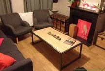 Table bois et métal / tables basse, haute, d'appoint en bois et métal