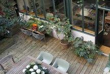 Extérieurs: jardins, terrasses, piscines