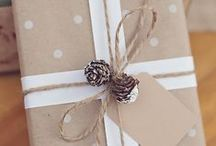 Kraft Paper / Gift wrap ideas using Kraft