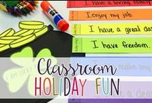 Classroom Holiday Fun / Ideas for Year-Round Holiday Fun in Elementary School