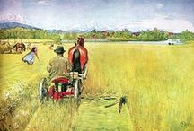 Art . . Carl Larsson / Carl Larsson (Swedish painter, 1853-1919) is famous for his watercolor paintings, all of them illustrating his family's idyllic countryside life and having an enormous influence on Swedish interior design for generations to come. / by Francine Schwartz