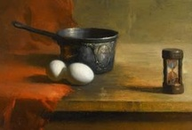 """Art . . David A. Leffel / In conversation with a collector, Leffel once mentioned how his paintings are about light and shadow. """"Oh,"""" said the collector, """"I thought they were about quiet."""" / by Francine Schwartz"""