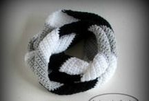 Crochet Scarves & Cowls / Crocheted infinity scarves, skinny scarf, and cowls for all seasons.