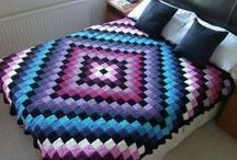 Crocheted Afghans & Pillows / Kids afghans, adult size afghan, and/or pillow for your home or bedroom.