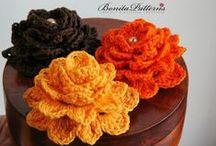Crochet Flowers, Butterflies, & Hearts / Flowers, butterflies, and hearts. All crocheted.