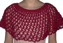 Crocheted Shawls, Wraps, & Ponchos / Shawls, wraps, shrugs, ponchos....anything crocheted that goes around your torso.