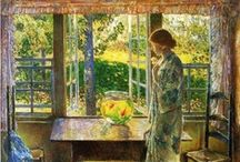 Art . . Frederick Childe Hassam / Frederick Childe Hassam (1859–1935), a pioneer of American Impressionism and perhaps its most devoted, prolific, and successful practitioner, was noted for his urban and coastal scenes.