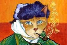 Art . . Arty Cats / Cats are featured in Art throughout the centuries. I especially like them in Costume. / by Francine Schwartz