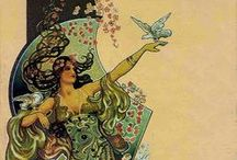 Art Nouveau / Art Nouveau have always be just 1 of my favorite art forms. Now with this serge with modern Art Nouveau i'm falling in love all over again.... / by Rorie B. Sivyer