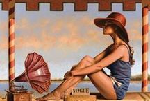 Art . . Peregrine Heathcote / Peregrine Heathcote's paintings conjure a world of intoxicating glamour and intrigue, slipping across the boundaries of time to fuse iconic pre-war design with modern conceptions of beauty and silverscreen-era romance.