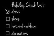 Holiday Check List 2014