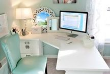 Ideas for the home office / Decorating ideas for the home office