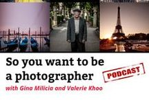 Podcast: So you want to be a photographer / I co-host a weekly podcast with amazing celebrity and portrait photographer Gina Milicia. http://ginamilicia.com/category/podcast/