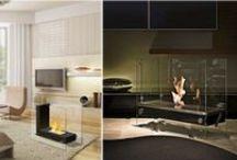 Ventless Modern Fireplaces / Indoor and Outdoor modern ventless fireplaces, tabletop, freestanding and wallmount.