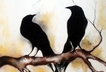 Crows & Ravens / Artwork, photographs and facts about crows and ravens ~ beautiful!