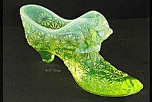 Vintage Fenton Glass Shoes