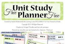 Homeschool: Unit Study Helps / Homeschooling unit study resources, unit study downloads, free printables, and tools.