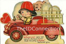 VALENTINES WHEELS VINTAGE / Valentines theme cars, buses, trucks, etc. / by Judy