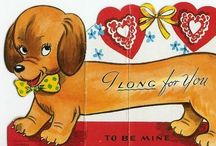 VALENTINES DOG VINTAGE / Vintage Valentines Dogs & Puppies / by Judy