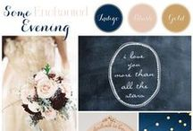 Navy, gold, & pink wedding / by Georgia