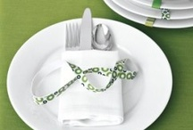 Table setting for dinner or friends gathering